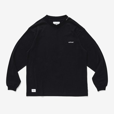 WTAPS 2020AW INDUSTRY / MOCK NECK / COTTON 厚領長袖 黑色 M