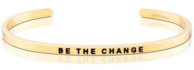 MANTRABAND 美國悄悄話手環 BE THE CHANGE 成為更好的自己 金色手環