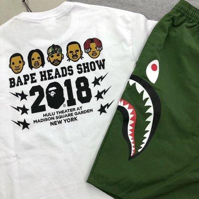 【P+C】BAPE HEADS SHOW 2018 T-SHIRT 說唱歌手 聯名 短袖TEE 男女 白色