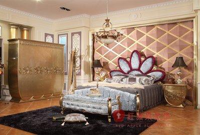 [紅蘋果傢俱] SA006A宮廷床 宮廷凡爾賽系列 歐式 雙人床 新古典 床台 床架 高檔 法式 奢華