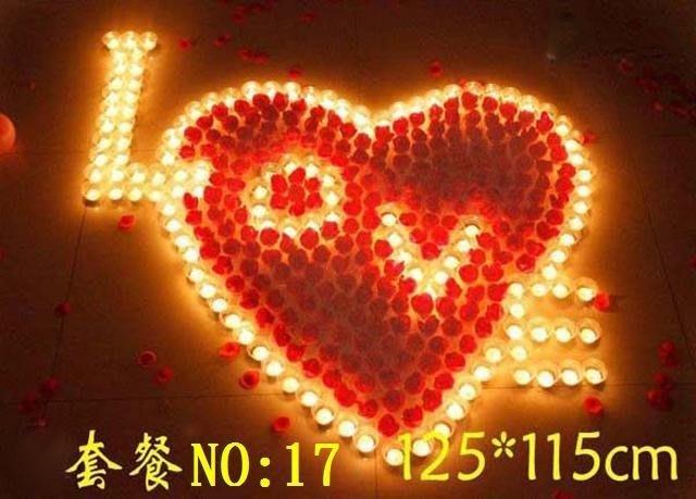 ☆創意小物店☆心型套餐NO:17 /排字蠟燭/求婚蠟燭/生日蠟燭/情人節禮物 浪漫表白必備