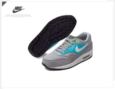 =CodE= NIKE WMNS AIR MAX 1 ESSENTIAL 麂皮皮革慢跑鞋(灰綠白)599820-024女