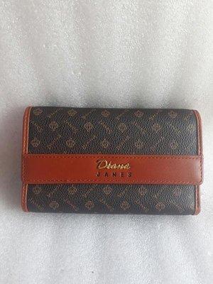 紫庭雜貨* 真皮夾 全新 黛安娜 Diana Jane's  3層短皮夾 中夾 義大利經典皇冠紋 展示夾包 特價出清