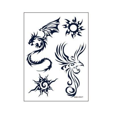 【萌古屋】龍太陽符號 - 半永久果汁紋身微刺青14天擦不掉紋身刺青XLM-027 K12