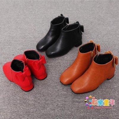 3歲女童短靴刷毛棉鞋秋冬季韓版百搭6兒童7高跟8皮鞋公主童鞋冬款