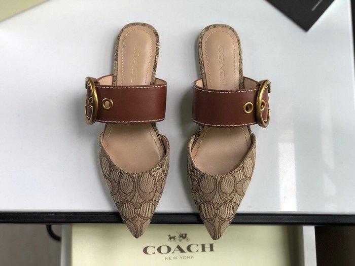 【小黛西歐美代購】COACH 寇馳 2020新款 懶人鞋 滿版LOGO 休閒鞋1 時尚精品 美國連線代購