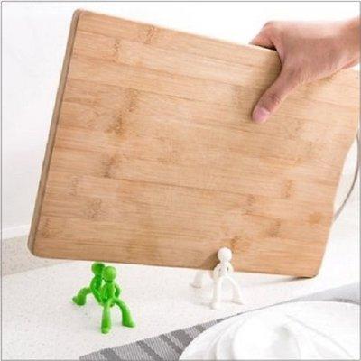 Color_me【K18】創意小人切菜板架 廚房創意收納置物架 耶誕小禮 多功能收納架 切菜盤架