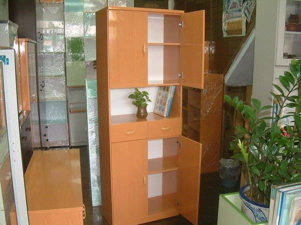 【塑鋼舒美櫥櫃設計~訂做】~不怕水.不生蛀蟲~黃木紋色~空間利用~塑鋼舒美收納櫃~