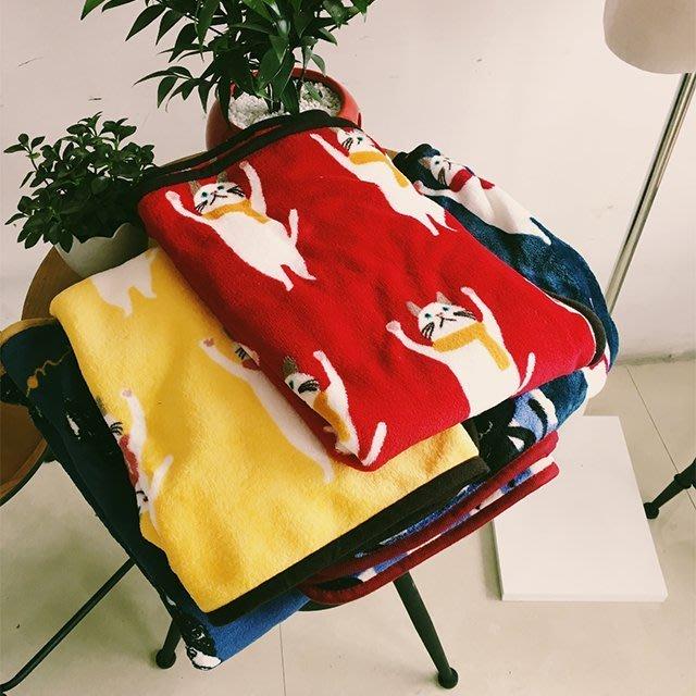 文青珊瑚絨毛毯披肩【ZOWOO-0276】寵物空調懶人毯卡通貓咪空調毯法蘭絨毯 FUN 非行動電源士zakka迪士尼