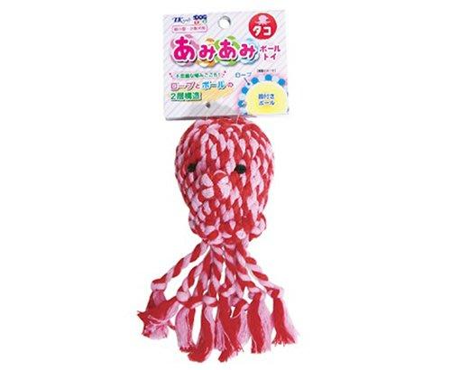 ☆SNOW的家☆日本TK Tarky - 編織啾啾球 啃咬 潔牙玩具-飄飄章魚 (82760231