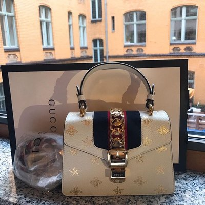 Gucci Sylvie Bee Star Mini Leather Bag