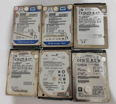 "320GB SATA /5400轉(2.5""筆電硬碟)"