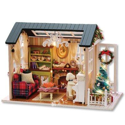 【酷正3C】美式復古風系列 森藍時光 美好歲月 假日時光→ DIY袖珍屋 模型屋 材料包 娃娃住屋 手做工藝 拼裝房子