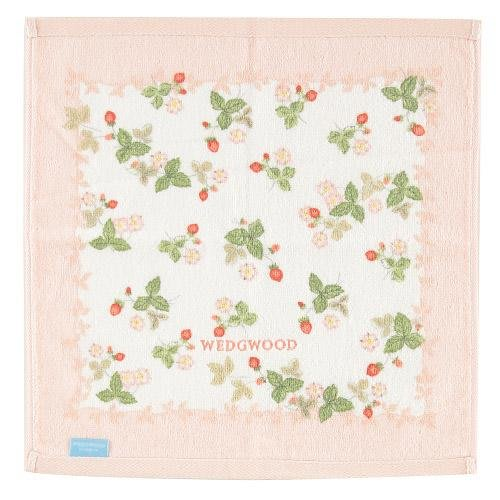 ~~凡爾賽生活精品~~全新日本進口WEDGWOOD小紅莓造型粉紅色純棉小方巾~日本製
