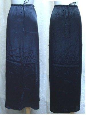 ~麗麗ㄉ大碼舖~大尺寸#1-#8(20-30吋)黑/鐵灰色亮緞質料長裙~裙側雙口袋~本月拍賣品