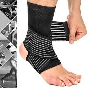 【推薦+】2in1雙重加壓纏繞式護腳踝D017-03綁帶繃帶護踝束帶束套.運動防護具.保暖腳踝套.跑步登山籃球自行車