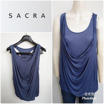 【皮老闆】二手真品 SACRA 衣服 上衣 無袖 背心 E311