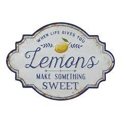 """~誠萍生活家具~ 美式鄉村黑白鐵藝""""Lemons""""壁掛 壁飾 告示牌 居家掛飾 字牌 直購價$460"""