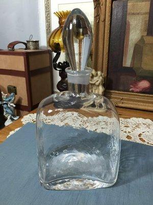 白明月藝術/古物雜貨店 歐洲早期水晶酒瓶