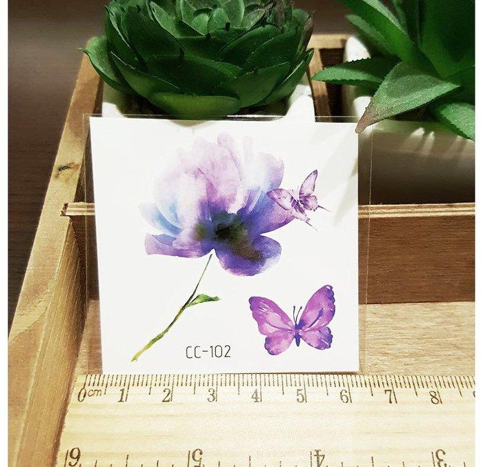 【萌古屋】花朵單圖CC-102 - 防水紋身貼紙刺青貼紙K38