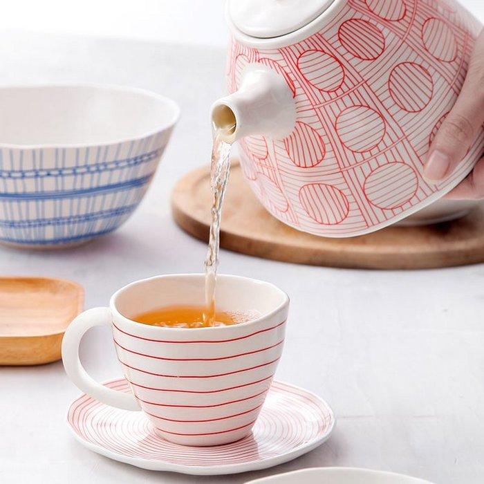 日式優雅陶瓷茶具 居家餐廳咖啡杯具馬克杯茶杯茶壺(水壺*1)_☆優購好SoGood☆