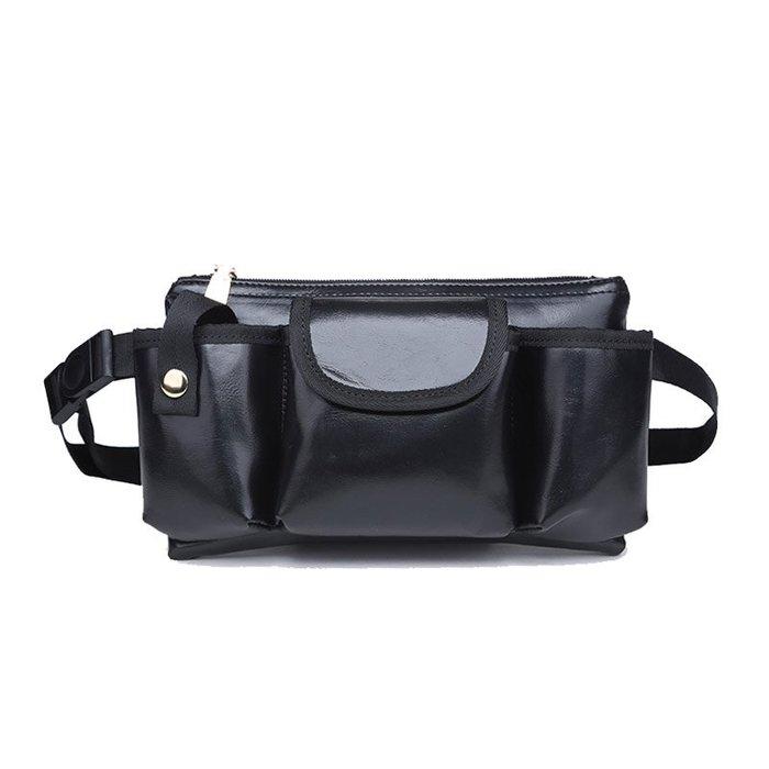 6020*新款皮質腰包 酒吧夜店KTV營業員工作腰包對講機工具包
