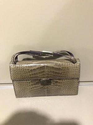 Gucci 鱷魚皮包  晚宴包 附小錢包和鏡子