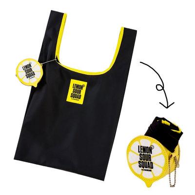 【寶貝日雜包】日本雜誌附錄 EXILE SOUR SQUAD折疊購物袋+檸檬吊飾收納包 小物包 收納袋 零錢包