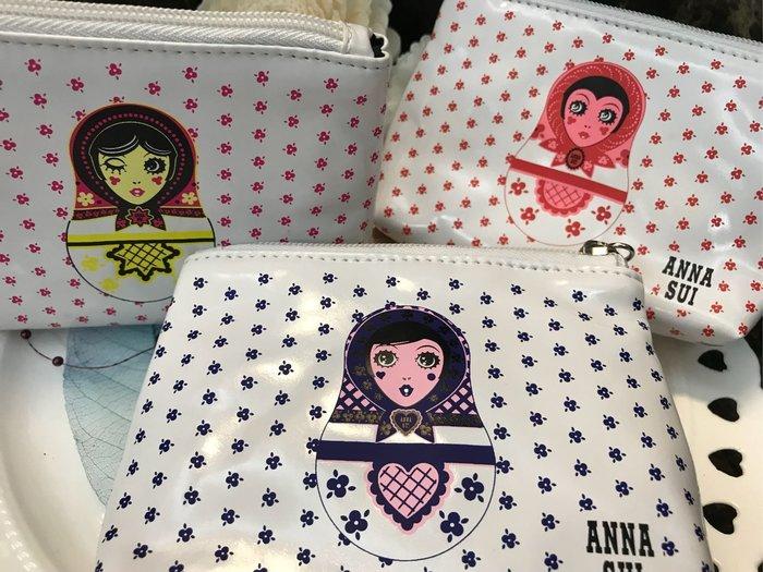【∮魔法時光∮】ANNA SUI安娜蘇 零錢包 Dolly洋娃娃零錢包 藍色 紅色 黃色