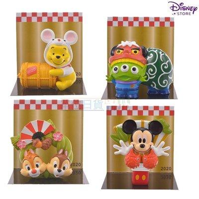 『 單位日貨 』日本正版 2020年 迪士尼 專賣店限定 三眼怪 奇奇蒂蒂 小熊維尼 干支 鼠年 正月 公仔 擺設 門松