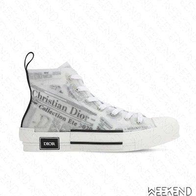 【WEEKEND】 DIOR B23 OBLIQUE Daniel Arsham 報紙 半透明 高筒 運動鞋 休閒鞋