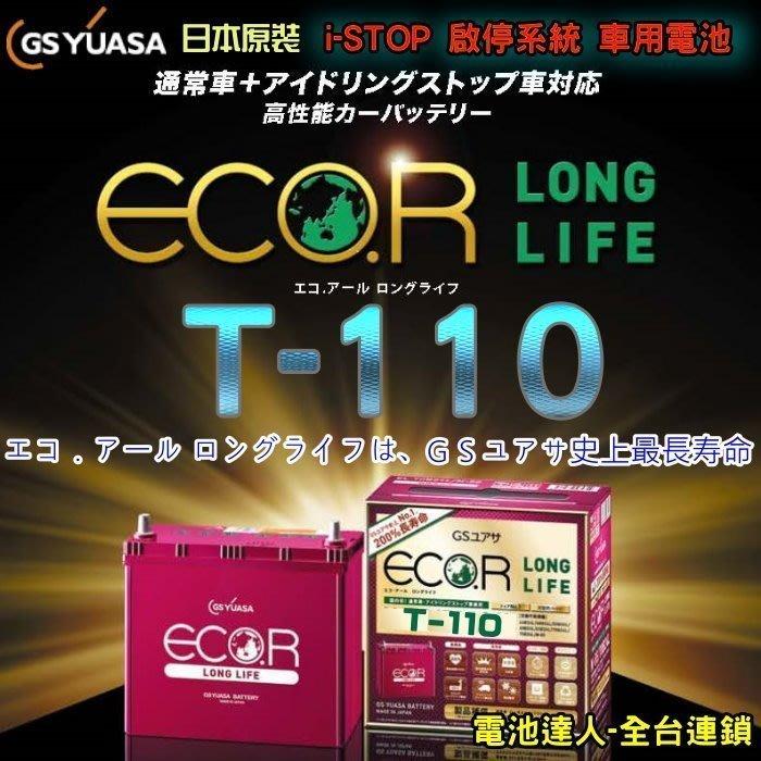 【鋐瑞電池】GS T-110 日本 鋰合金 汽車電池 柴油車 MAZDA 3 馬自達 6 CX-5 CX-7 CX-9