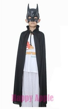 **Happy Apple** 萬聖節裝扮.聖誕節.派對表演服裝萬聖節道具尾牙表演~蝙蝠俠面具+90cm黑色披風 台中市