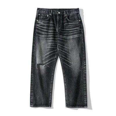TSU 全新正品INHERE Washed jeans No.2 Black 黑色 水洗牛仔褲 破壞 M 赤耳