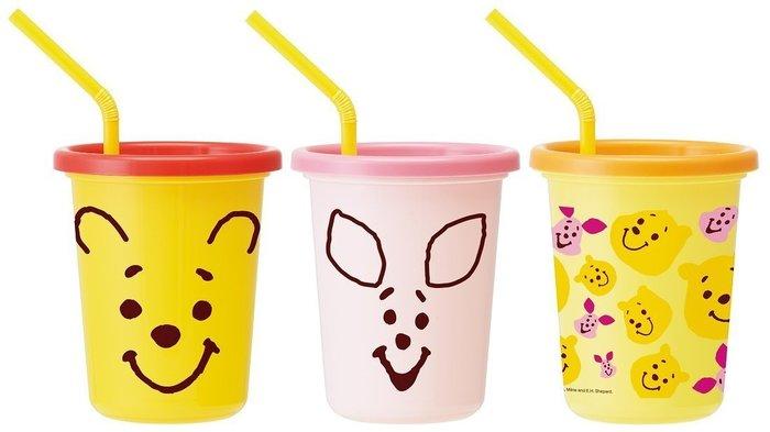【東京速購】日本代購~日本製 迪士尼 小熊維尼 耐熱 水杯 320ml(3入)