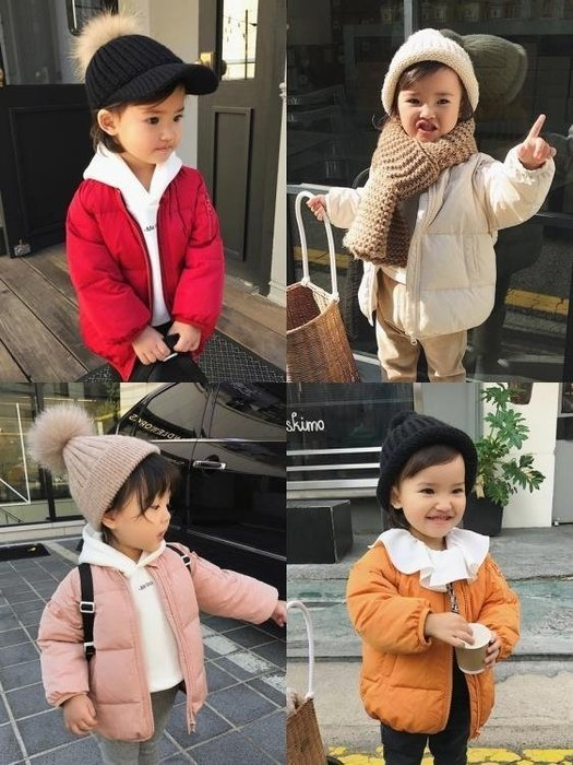 999辰辰媽童裝冬裝1-3歲女寶寶羽絨服白鴨絨新款女童圓領羽絨服外套01KK12