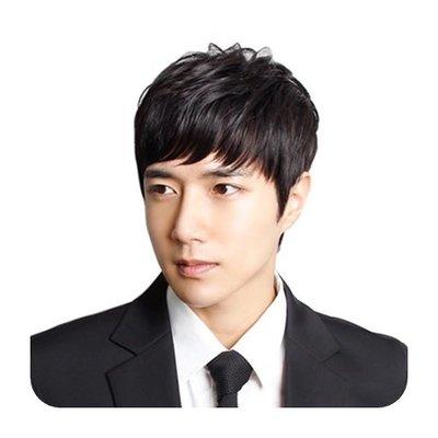 整頂 假髮 真髮絲-舒適透氣自然短髮男假髮2色73vb8[獨家進口][米蘭精品]