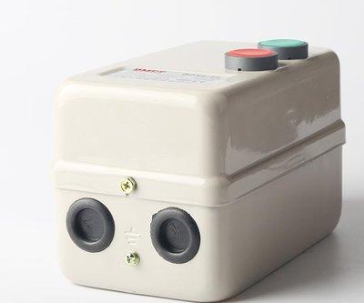 電磁開關 鐵盒 NO OFF 按鈕 220V 5HP 空壓機 水泵加壓馬達 開水機電熱水器 電磁接觸器 單相三相 4KW 新北市