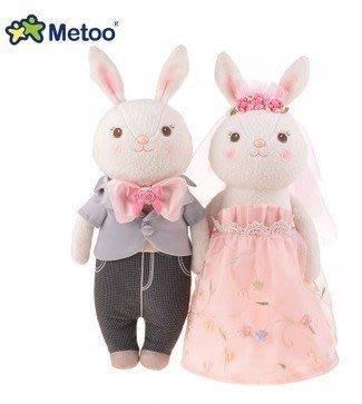 ☆║♥愷心小舖♥║☆婚禮Metoo提拉米兔婚紗款結婚娃娃 西式白婚紗黑西裝 情侶玩偶 婚禮佈置 浪漫~3款~