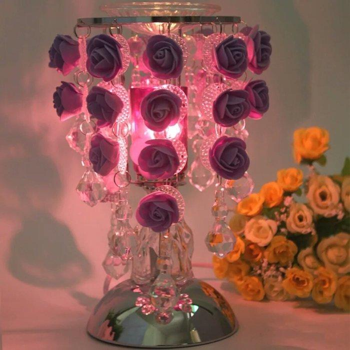 粉紅玫瑰精品屋~高檔玫瑰之約香薰精油夜燈~