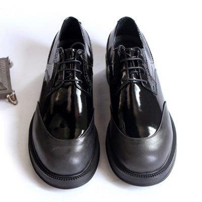 皮鞋 真皮休閒雕花圓頭鞋-時尚大氣簡約厚底男鞋73kv20[獨家進口][米蘭精品]
