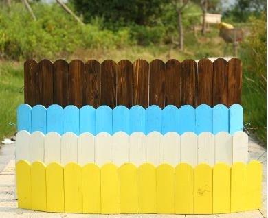 免運~~戶外花園防腐木柵欄室內彎曲裝飾彩色圍欄庭院園藝實木小籬笆