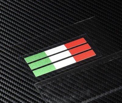 焌婕車貼-[  ] 義大利 國旗 配色貼 條紋 46 羅西 AGV moto GP 機車 反光 防水 字標 貼紙