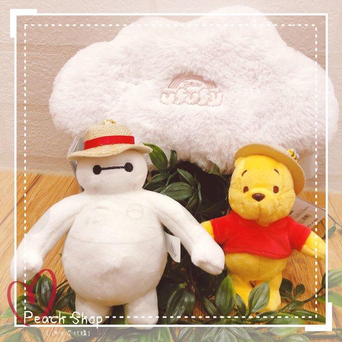 【桃子小舖 ♥ P.S 】 夏季草帽風 維尼/杯麵造型吊飾 Disney Store