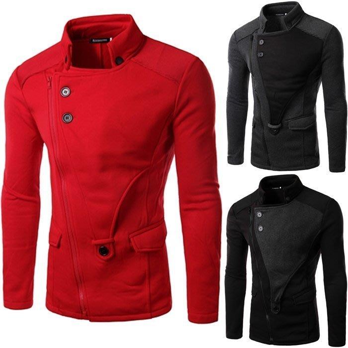 『潮范』 W12 新款韓版時尚休閑修身夾克外套 男士棉質立領外套 短大衣 休閒外套NRB275
