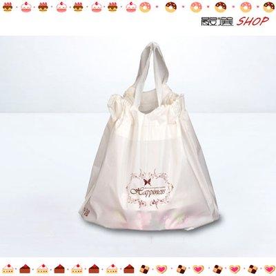 【嚴選SHOP】米色 16~18cm 6吋乳酪盒手提袋 拉拉袋 圓盒袋 食品袋 蛋糕袋 包裝袋 西點袋【D070】