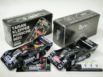 ADVAN Vs ALPHA(先前爛盒已售)!Tomica Tomy F36 116 Porsche 962 956 race Japan保時捷里萬賽車日本製