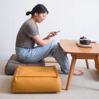 GENUS 日式蒲團皮質地上坐墊懶人坐墊榻榻米墊子北歐飄窗加厚坐墩小小草