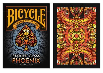 【USPCC撲克】Bicycle Stained Glass Phoenix Playing Cards