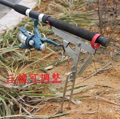 2020 新款 不锈鋼 自動起竿器 彈簧海竿架 自動釣魚器 彈釣器 海竿支架